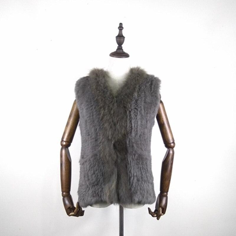 2017 caliente nueva piel de las mujeres chaleco moda Otoño e Invierno  abrigo de pieles caliente 100% Natural de alta calidad Chaleco de piel de  conejo envío ... 23f045dfccae4
