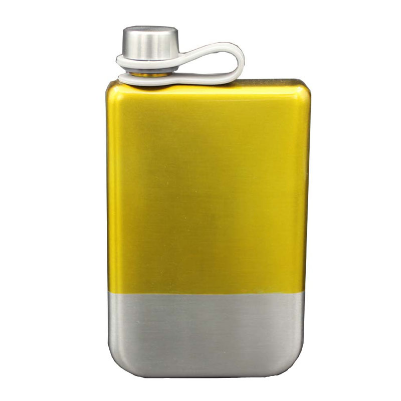 Fashionable 9 OZ Stainless Steel Hip Flask Nice-looking Portable Whisky Flask Liquor Bottle Wine Pot Outdoor Gifts For Drinker