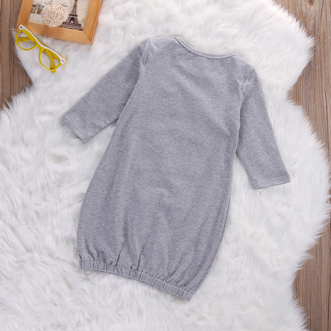 Cotton Newborn Baby Boys Clothes Long Sleeve Milk bottle Romper Sleeping Bag Sleepsack Outfit