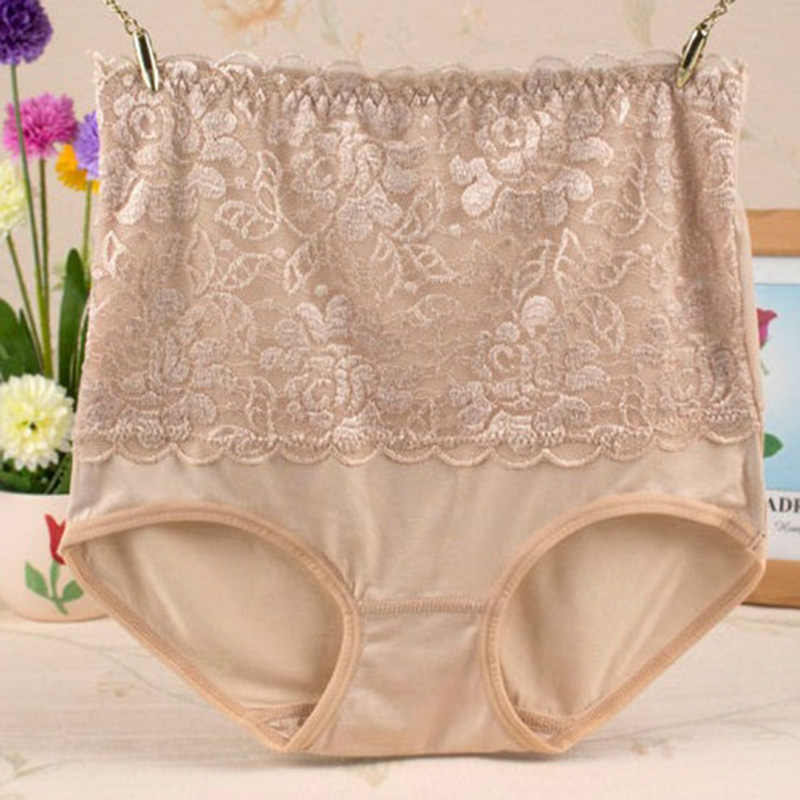 de582b731e37 ... Women's Lace Floral Body Shaper Hip Abdomen Tummy Control Panties High  Waist Sexy Lace Flower Intimates