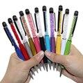 1 Pcs Criativo Cristal Caneta Diamante Canetas Esferográfica Papelaria Stylus Pen Touch Pen 11 Cores Oleosa Refil Preto 0.7mm