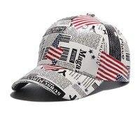 American Flag And Newspaper Snapback Hats Cool Patriotic Mens Women Fashion Adjustable Baseball Cap