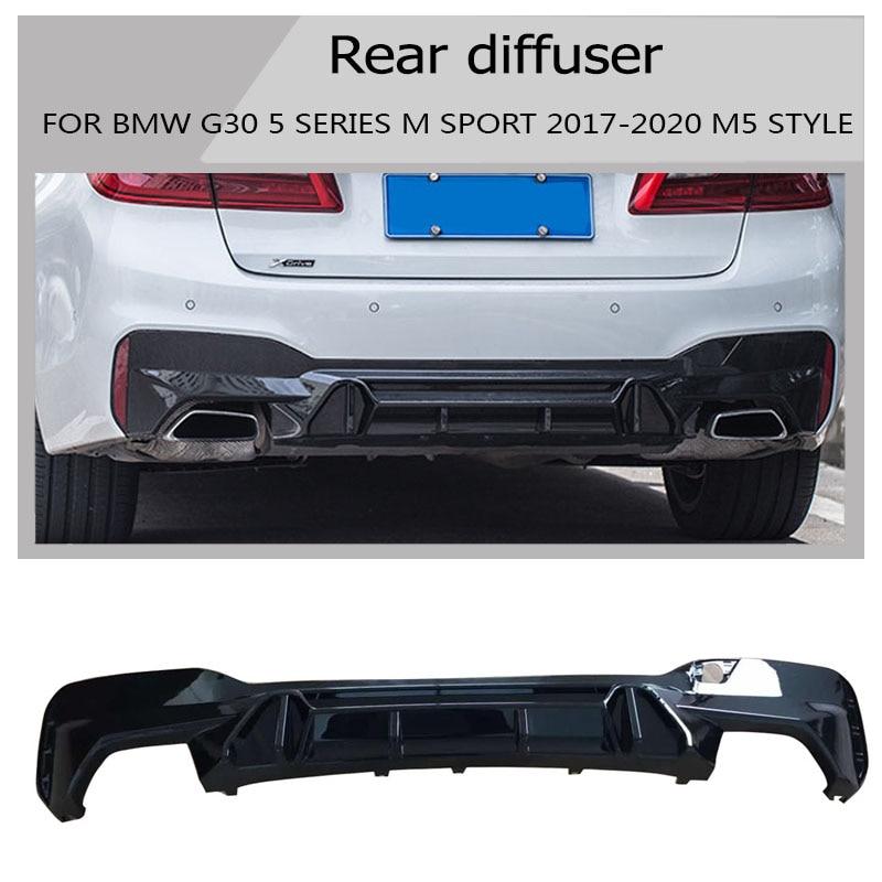 G30 M5 rear diffuser Custom SPOILER for BMW G30 G38 Spoiler 5 Series 530i 540i SPORT Base Sedan 4-Door 2017 2018