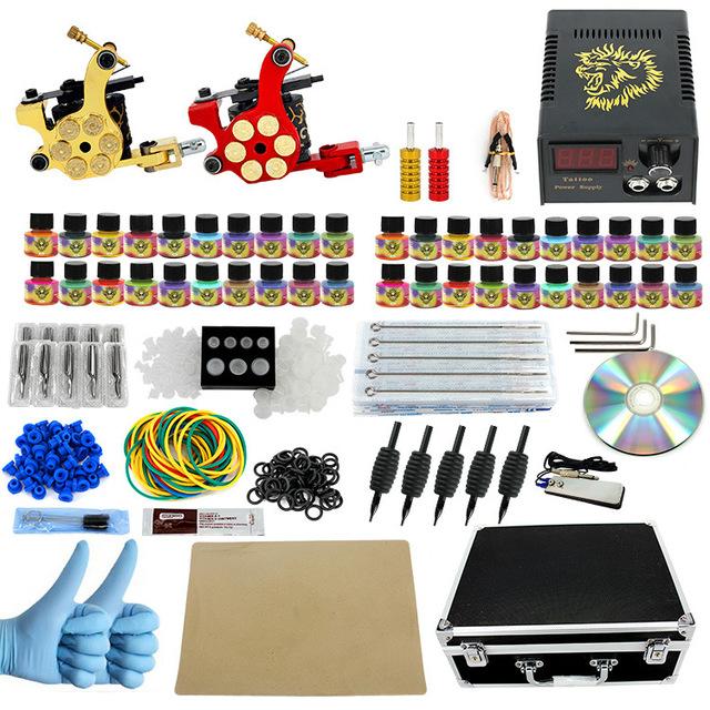 ITATOO Plumas Kit de Tatuaje Barato Set Máquina De Tatuaje Kit de Tatuaje Ametralladora de Tinta Suministros De Joyería Arma Profesional PX110004