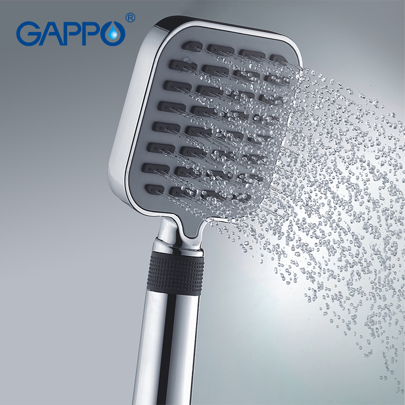 Gappo 1Pc Top Quality Three Ways Square hand shower heads bathroom accessories ABS in chrome Plated water saving shower headGA08