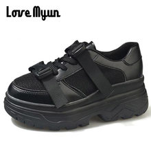 New Fashion lady 2018 Spring Breathable Sneakers Shoes Women Flats Platform  Casual Shoes Brand Flat female b0f9a519d246