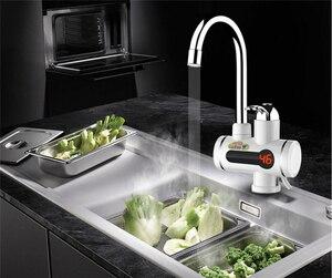 Image 3 - Aquecedor de água Tankless Aquecedor de Aquecimento Elétrico De Água Da Cozinha Torneira Display Digital Instantânea Torneira de Água Chuveiro 3000 W Interruptor Dual purpose