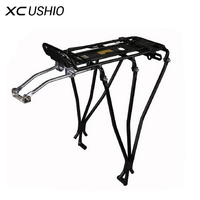 1x Aluminum Alloy MTB Bike Bicycle Rack Carrier 25kg Loading Rear Luggage Cycling Shelf Bracket for V brake Bike Free Shipping