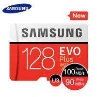 SAMSUNG Carte Mémoire EVO + 256 gb 128 gb 64 gb 32 gb 16 gb EVO Plus SDHC SDXC Micro SD Qualité EVO + EVO Classe 10 C10 Max Vitesse 95 m/s Nouveau