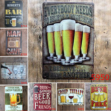Cheers Wine Metal Tin Signs Poster For Bar Pub Club KTV Dining Hall Shop Drink Cold Free Beer Decor Wall Art Retro Iron Plaque