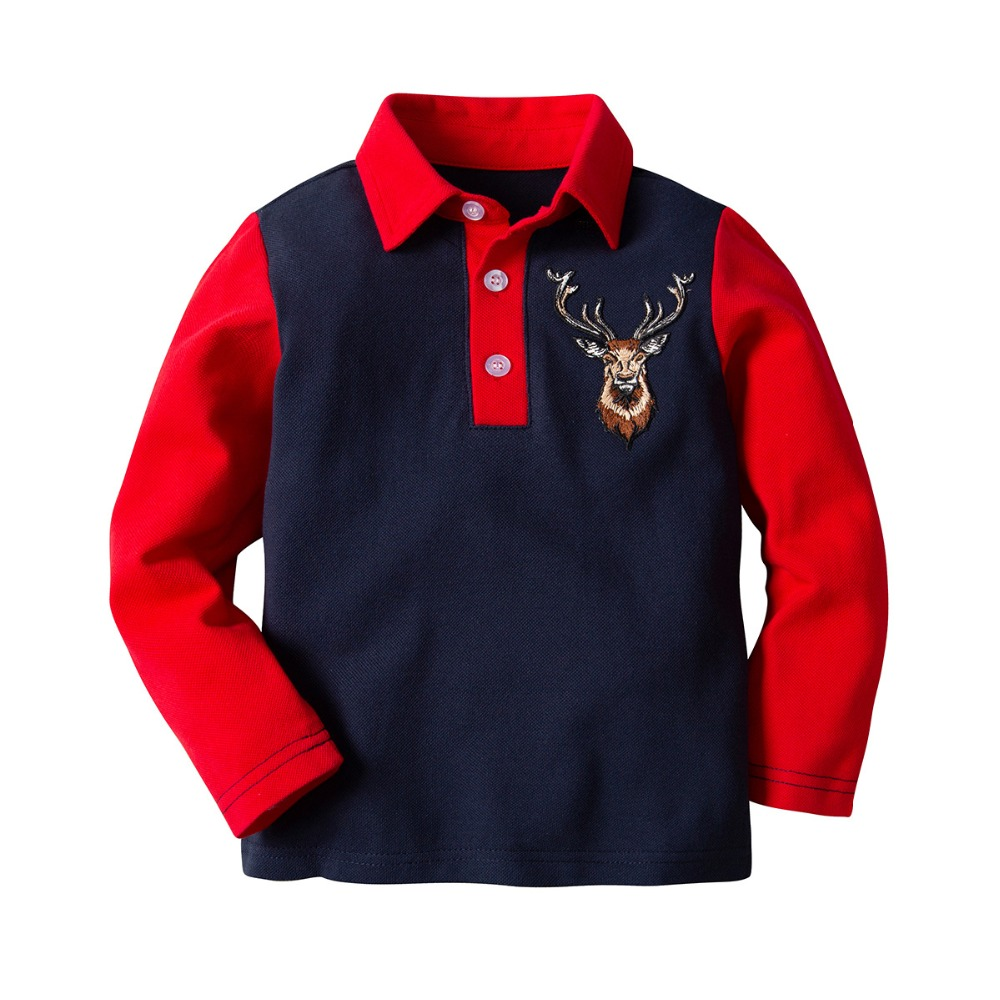8f59bf3b6 Polo Shirt Boys 2019 Summer Children s Clothing Toddler 100% Cotton Tops  Tee Baby Boy Kids Bobo Bebe Polo shirt 2-7Y