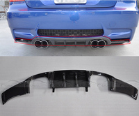 Coupe Only H Style E92 Car Styling Back Lip For BMW 3 Series E92 M3 Carbon Fiber Car Rear Bumper Diffuser 2007 2012