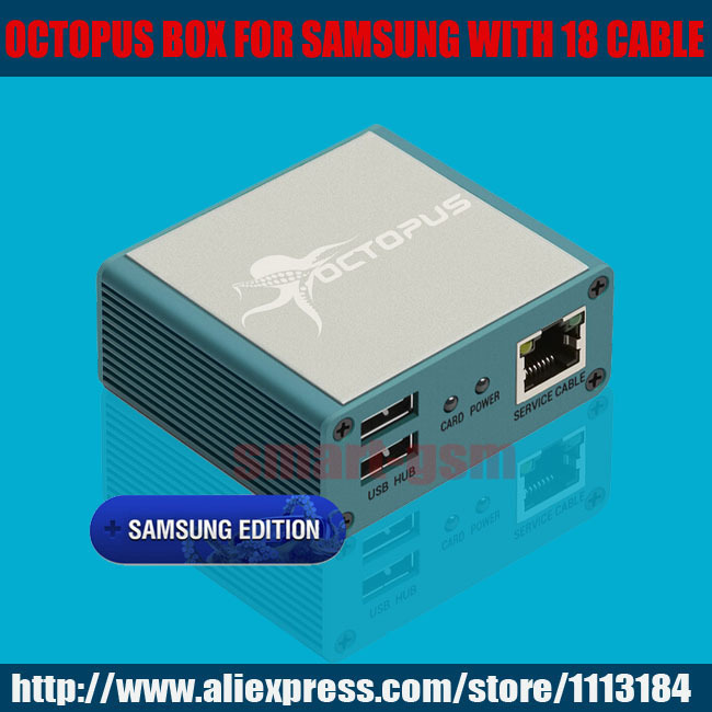 US $148 8 |Newest version 100% Original Octopus box for Samsung box New  Edition (package with 19 cables)For S5 & N900T & N900A & N9005 -in Telecom