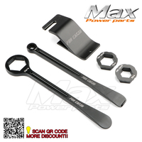 Tyre Iron Set Changing Tool Kit Raceline Grilled Tire Lever Hex Wrench Spanner Head 10MM 12MM
