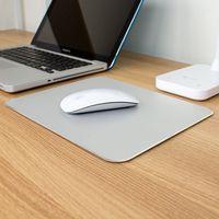 Miễn phí chuột không dây Nhôm Kim Loại Trò Chơi chống trượt Mouse Pad Chuột Pad PC Máy Tính Xách Tay Gaming Mousepad với món quà miễn phí