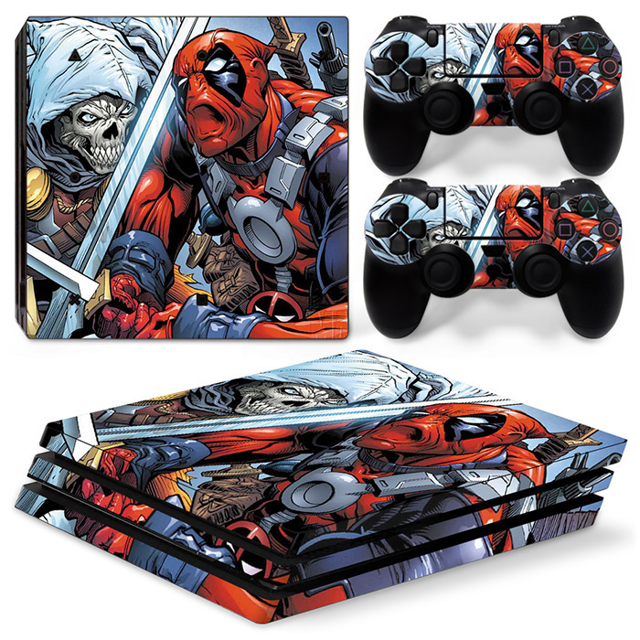 Fantastic design vinyl decal console skin sticker for PS4 PRO