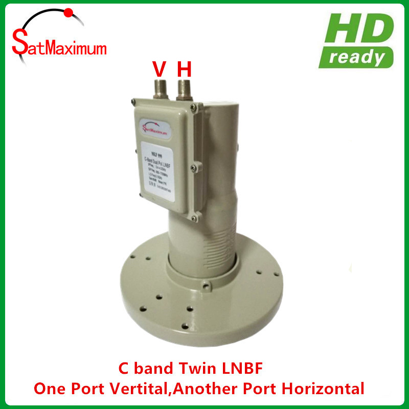 Digital Ready C Band Twin Output LNBF With Vertical And Horizontal Independent Output