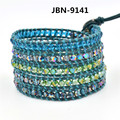 New Fashion Multi-layered Leather Wrap Bracelet Korean Hot Selling Friendship Bracelets Whosale Free Shipping