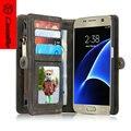 S7Case CaseMe Абсолютно Натуральная Кожа, новое Прибытие Для Samsung Galaxy S7edge бумажник обложка, Detachable Phone Case для iphone6 плюс 6
