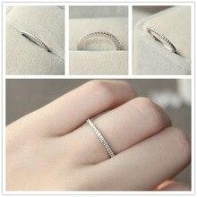 1 шт S925 серебро 4~ 11 размер США CZ покрытие имитация вечности кольцо полосы свадебные ювелирные изделия для женщин Bague Anillos мужчины кольцо