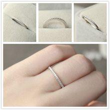 Anel de eternidade, 1 peça s925 4 ~ 11 eua tamanho cz banhado simulado faixas de casamento moda jóias para mulheres bague anel masculino anillos