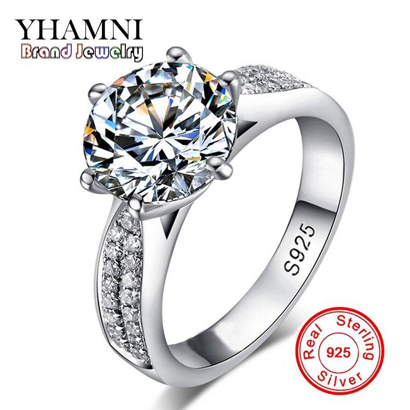 Perdre de L'argent Promotion! fine jewelry 100% solide inlay bague en argent sterling 2 carat sona cz diamant anneaux de mariage pour les femmes bkjz012