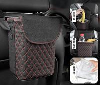 Carro estilo do carro lixo confortável carro lata de lixo portátil unidade bin premium pendurado wastebasket assento Lixo de carro Automóveis e motos -