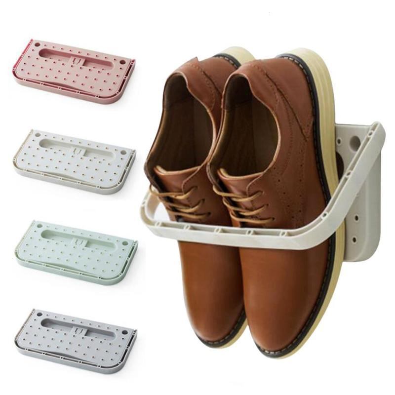 Image result for HOME SHOE SHELF PLASTIC WALL MOUNTED SHOES RACK STAND BATHROOM OVER THE DOOR HANGERS ORGANIZER HANGING