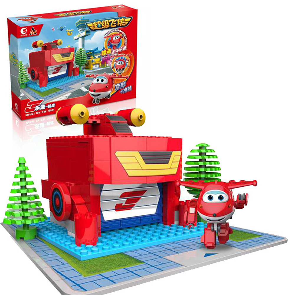 Super Wings Puzzle Brick Anime Toys Action Figure ABS Deformation Airplane Robot Action Figures  toys for children Present 8pcs set auldey super wings mini airplane abs robot toys action figures super wing transformation jet cartoon children kids gift