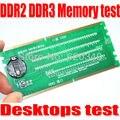 O Envio gratuito de Desktop DDR2/DDR3 Memória RAM Tester com LED Slot DDR2 DDR3 Tester Slot para Desktop Motherboard