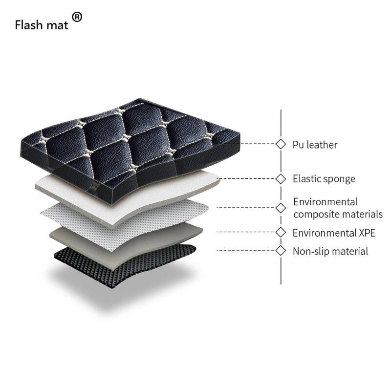 Flash Mat de coche de cuero alfombras de piso para Bmw X5 E53 E70 2004 2013, 2014 2016, 2017 de 2018 de auto pie almohadillas alfombra para automóvil cubierta - 3