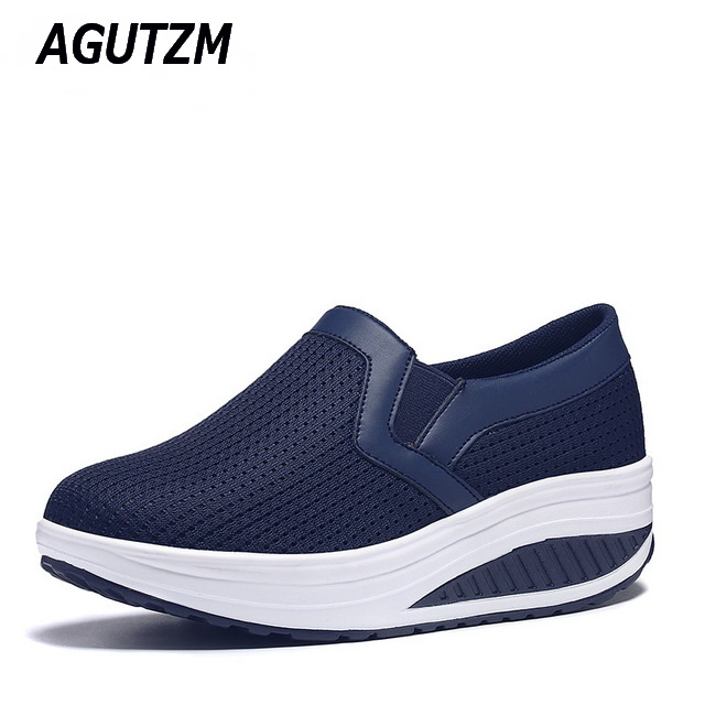 AGUTZM Women Shoes Mesh Breathable Summer Shoes Flats Women Casual Swing Loafers Women Footwear Size 35-42