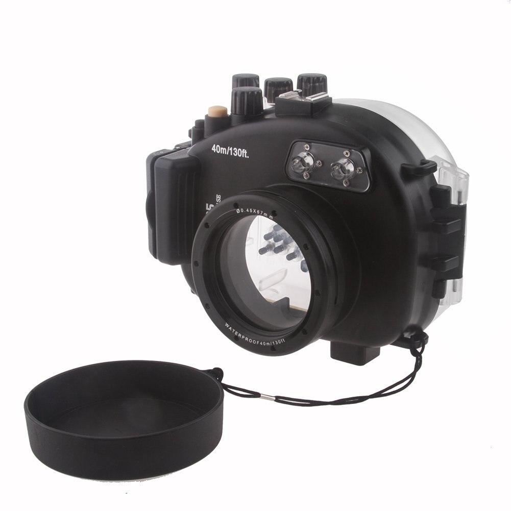 40M 130FT étanche sous-marine boîtier de la caméra sac pour Olympus E-P5 caméra 17mm lentille avec dragonne avec joint torique