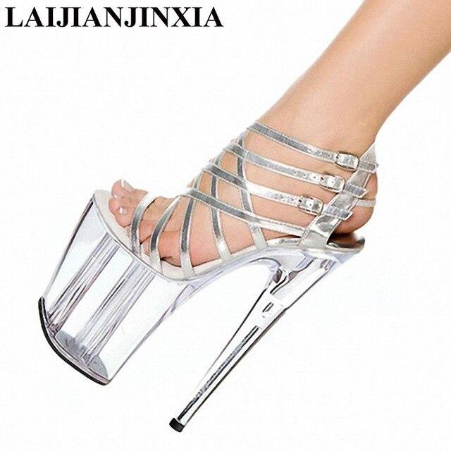 Laijianjinxia 2018 moda plataforma mujeres 20 cm Tacones altos plataforma  Night Club sandalias Super alto talón 8569e31075d4
