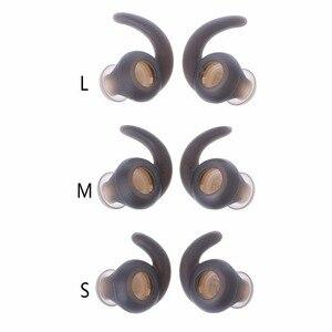 Image 5 - 3 par/partia miękkie silikonowe wkładki do uszu wkładki douszne do słuchawek silikonowe etui zaczep na ucho słuchawki douszne akcesoria końcówki słuchawek dousznych