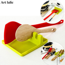 Spoon Holder Kitchen Organizer Spoon Pot Lid Shelf Cooking Storage Kitchen Goods Cooking Tool Spoon Rests & Pot Clips