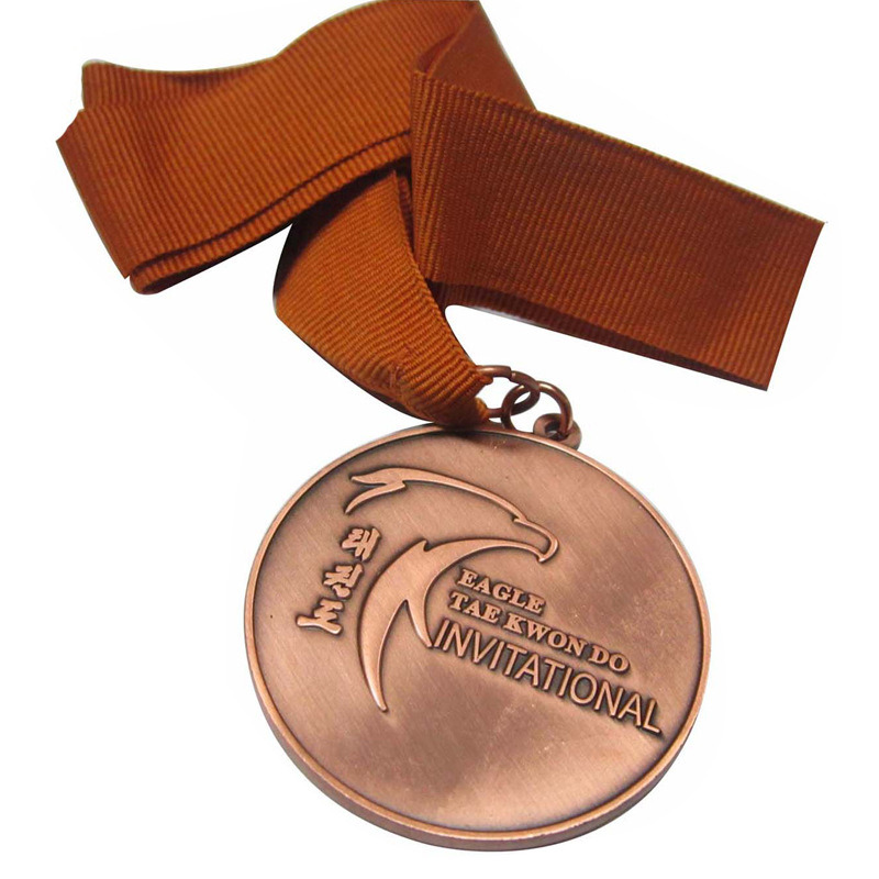 Customized copper metal medal factory direct round souvenir medal in Non currency Coins from Home Garden