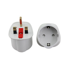 EU to UK Socket Power Adaptor With Fused 250V 13A European Travel Adapter Plug Converter