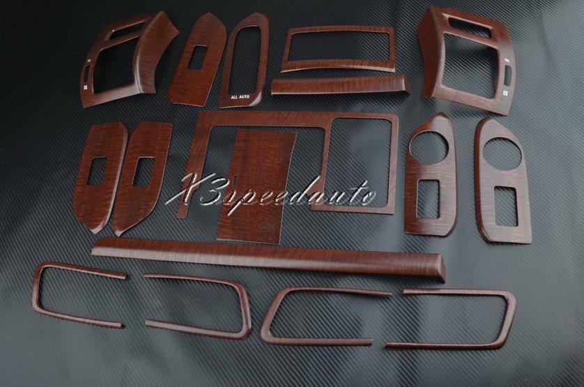 Kit d'outils pour habillage de tableau de bord en Grain de bois de haute qualité 17 pièces pour Toyota FJ150 Prado Land Cruiser 2010-2013 (convient uniquement à LHD)