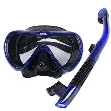 Новинка, профессиональная маска для подводного плавания, трубка, противотуманные очки, Набор очков, силиконовый Плавательный Бассейн, для взрослых, оборудование для подводного плавания