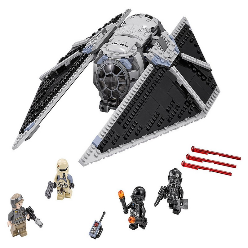05048 LEPIN 543Pcs STAR WARS TIE Striker Model Building Blocks Classic Enlighten DIY Figure Toys For Children Compatible Legoe lepin 562pcs building blocks toy tie fighter diy assemble figure educational brick brinquedos for children compatible legoe