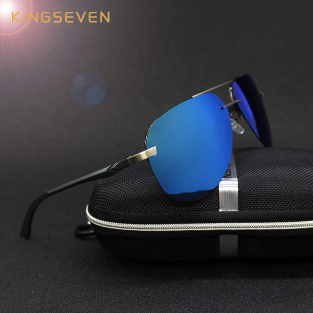 ec4cb0d77da KINGSEVEN Aluminum Magnesium Polarized Sunglasses Men Driver Mirror Sun  glasses Male Fishing Female Eyewear For Men