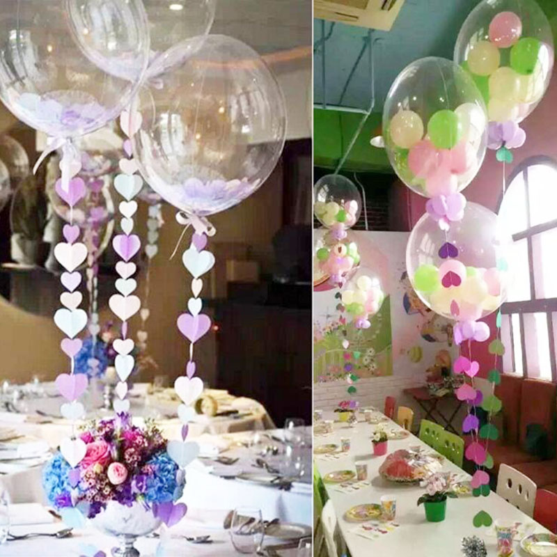 50pcs Lot 24inch Clear Helium Balloons Transparent