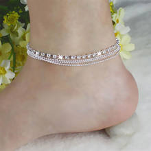 High Quality 2018 Trendy Hamsa Anklet Bracelet On The Leg For Women Fashion Gold Color Chain On Foot Girl Beach Ankle Bracelet(China)