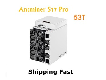 Free shipping BITAMAIN AntMiner S17 Pro 53TH/S With PSU BTC BCH Miner Better Than S9 S15 S11 T15 T9+ Z11 WhatsMiner M3X M10 M20S 1