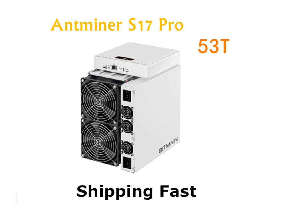 BITAMAIN Newest AntMiner S17 Pro 53TH/S With PSU BTC BCH Miner Better Than S9 S15 S11 T15 T9+ Z11 WhatsMiner M3X M10 M20S