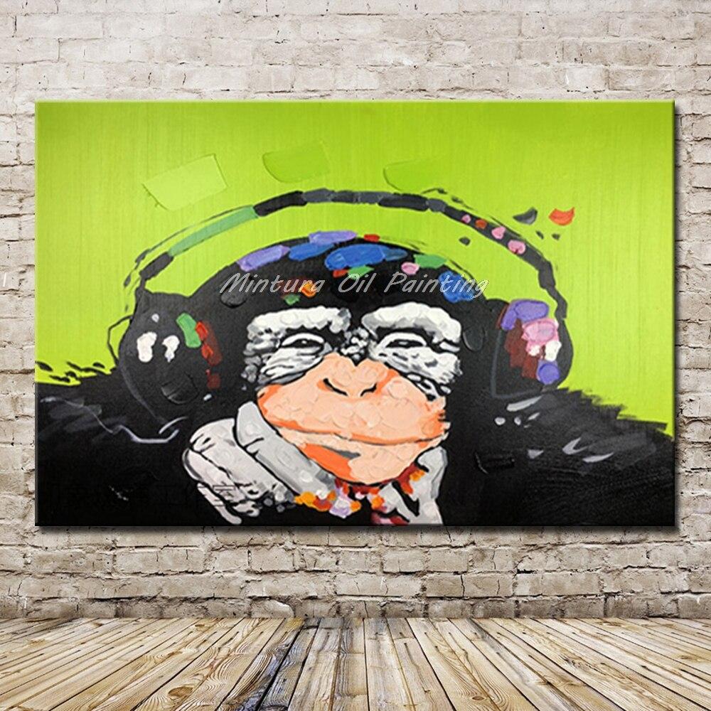 Mintura Art Hand Painted Gorilla Animal Oil