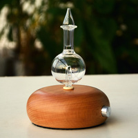 New 7 Color Pro Nebulizing Pure Essential Oils Fragrances Aromatherapy Wood Glass Diffuser Household Sauna Aroma