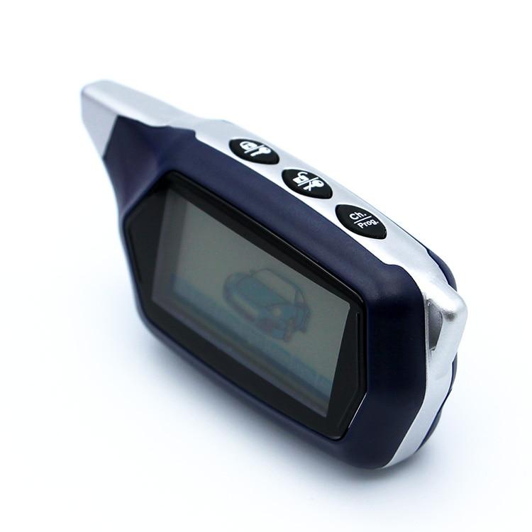 imágenes para C9 llavero para starline C9 versión rusa lcd remoto de dos vías sistema de alarma del coche del envío libre