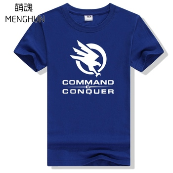High quality classsic game PC game Command and conquer t shirts men's game fans t shirt 220g cotton gift for boyfriend ac512